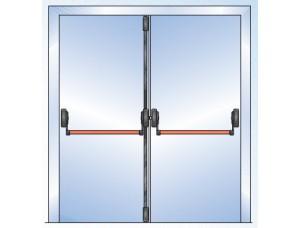 Комплект антипаники GU (BKS) (Двухстворчатая дверь, 3 точки запирания) Пассивная створка