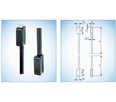 Комплект  вертикальных запоров GU (BKS) 1490 мм, отв. частями, цвет - чёрный