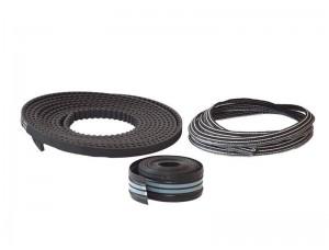 Набор для 1501 мм <=LW<=2000 мм: резиновая прокладка трека, щетка для зоны прохода, зубчатый ремень 8020084