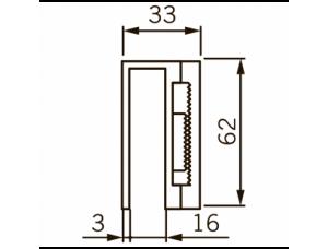 DORMA (dormakaba) UBG-10/12 для EMC 400 AH на стекло 10-12