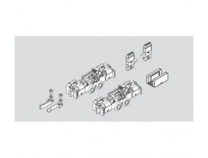 83669115099 MUTO Comfort M 60, комплект аксессуаров :2 х зажимных кареткок, 2 х стопора, 1 х напольная направляющая DORMA (dormakaba)