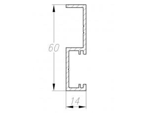FLEX Профиль примыкания S-обр.для 1-створ.двери L=5100мм, без обработки арт 32542601120