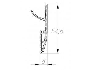 FLEX Боковое ПВХ уплотнение L=3200мм арт 32541103140