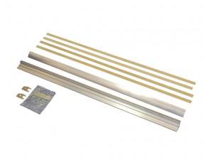 Шина зажимная для стекла 10-12 мм для ES200, ES200 EasyPlus, ES 200 Easy, ES75, 1000 мм, неокрашенная, 4400170