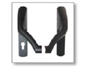 Накладка PHA 2700 RR для врезной  антипаники, серебро