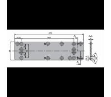 DCA167-EV1: Монтажная пластина для доводчика ABLOY DC 135