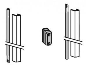 2205 PHX 05 Комплект соединительных штанг с крышками для дверей высотой 3400 мм DORMA (dormakaba)
