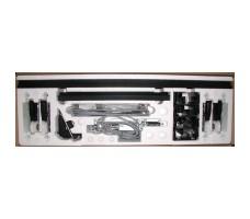 Стандартный набор 4010231 DORMA для 1-створчатой двери без замка. Состав: 2 каретки, ограничитель, кронштейны и другие элементы.