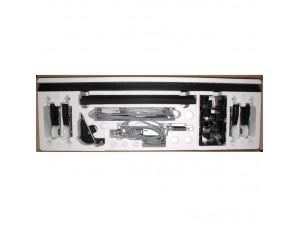 Стандартный набор 4010231 DORMA (dormakaba) для 1-створчатой двери без замка. Состав: 2 каретки, ограничитель, кронштейны и другие элементы.