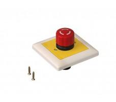 Кнопка аварийной остановки скрытого монтажа 80х80 мм, 90400025