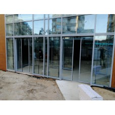 Установка автоматических дверей г. Мытищи, ТЦ на Рождественской