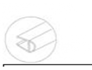 8030181Душевой XL мягкий уплотнитель 8мм стекло 2,5м DORMA (dormakaba)