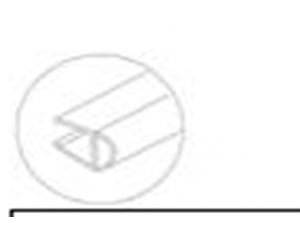 8030182Душевой XL мягкий уплотнитель 8мм стекло 2,2м DORMA (dormakaba)