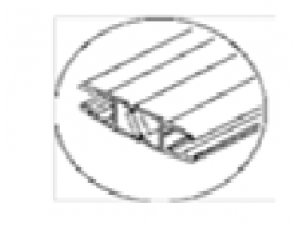 8030183Душевой магнитный XL уплотнитель 8мм стекло 2,5м пара DORMA (dormakaba)