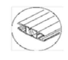 8030184Душевой магнитный XL уплотнитель 8мм стекло 2,2м пара DORMA (dormakaba)